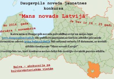 """Oktobra jautājumi konkursā """"Mans novads Latvijā"""""""