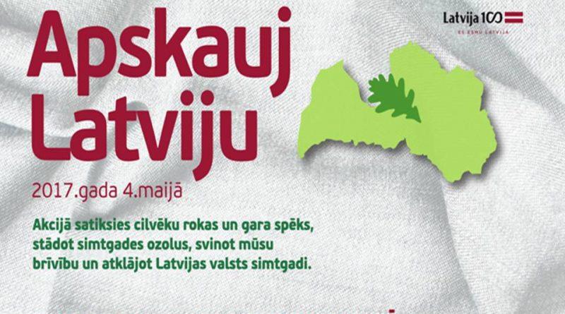"""4.maijā Demenē notiks akcija """"Apskauj Latviju"""""""